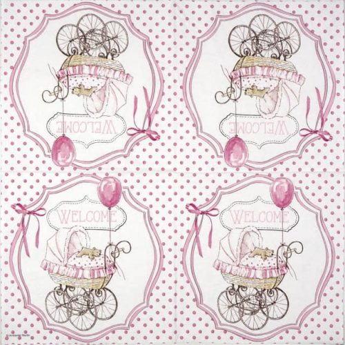 Lunch Napkins (20) - Welcome Pink