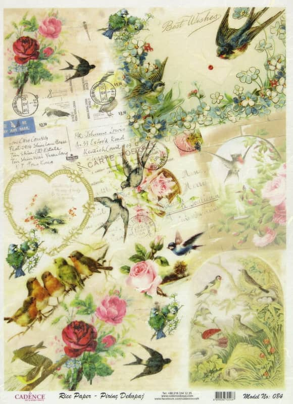 Rice Paper - Hummingbirds Garden