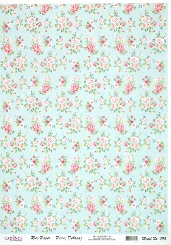 Rice Paper - Shabby Roses small