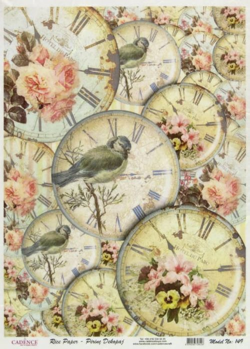 Rice Paper - Shabby Birds