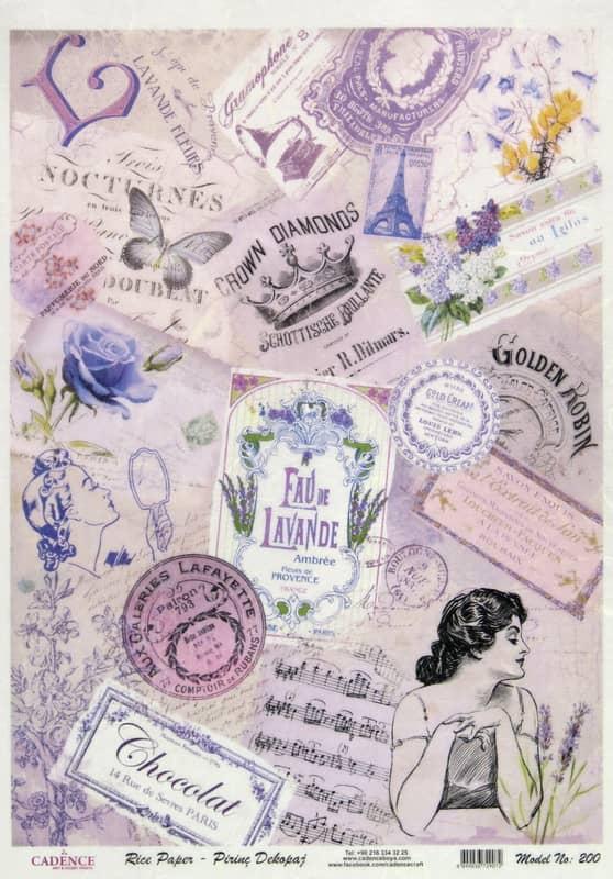 Rice Paper - Lavender World