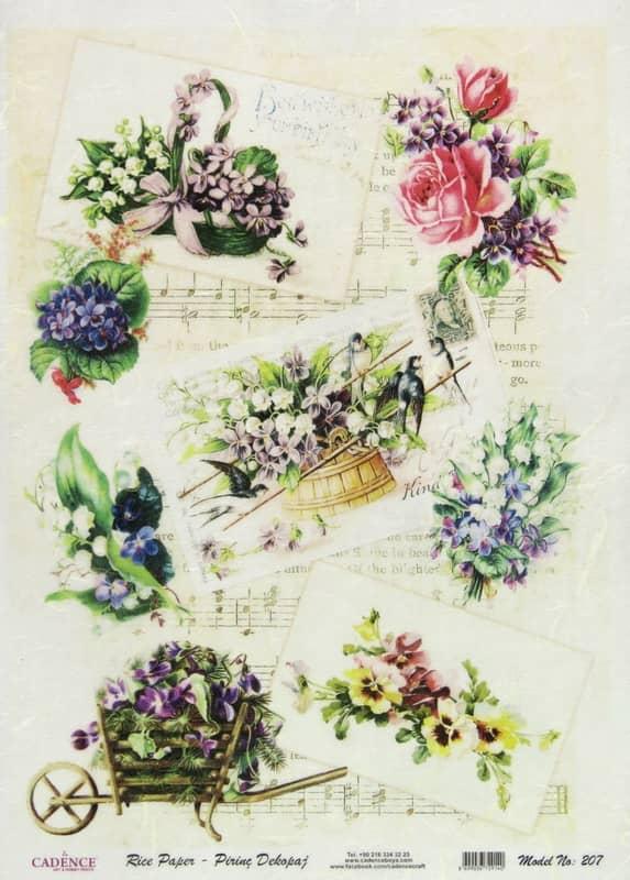 Rice Paper - Spring Garden