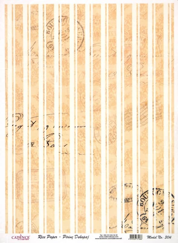 Rice Paper - Striped
