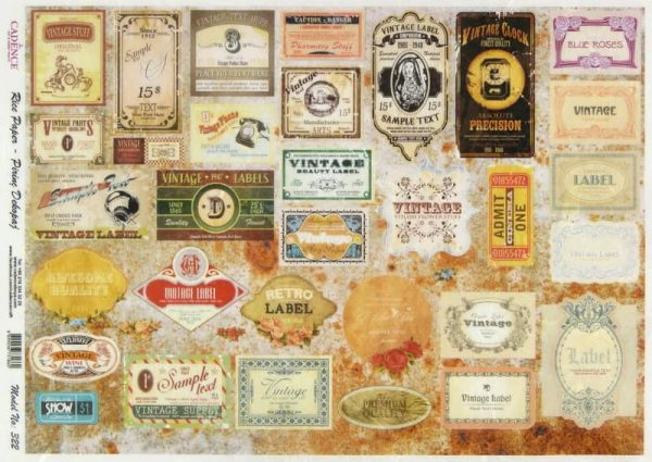 Rice Paper - Retro Labels