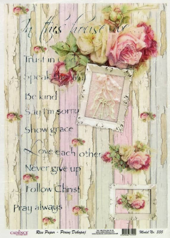 Rice Paper - Shabby Chic Roses