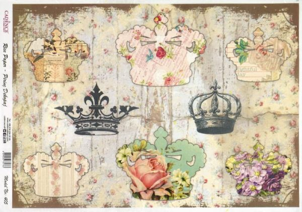 Rice Paper - Shabby Crowns