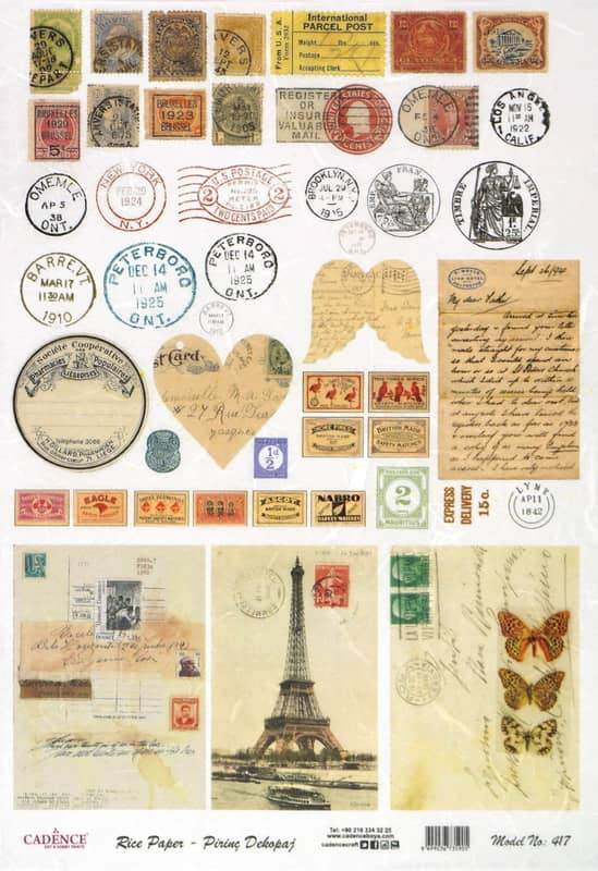 Rice Paper - Old Stamps and Cards