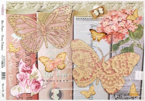 Rice Paper - Shabby Chic Butterfly