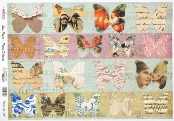 Rice Paper - Shabby Chic Butterflies