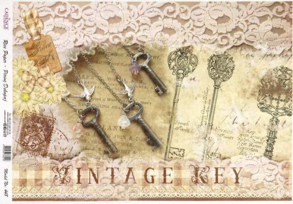 Rice Paper - Vintage Keys