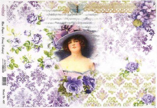 Rice Paper - Purple Lady