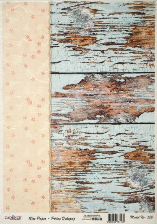 Rice Paper - Cracked wood decor