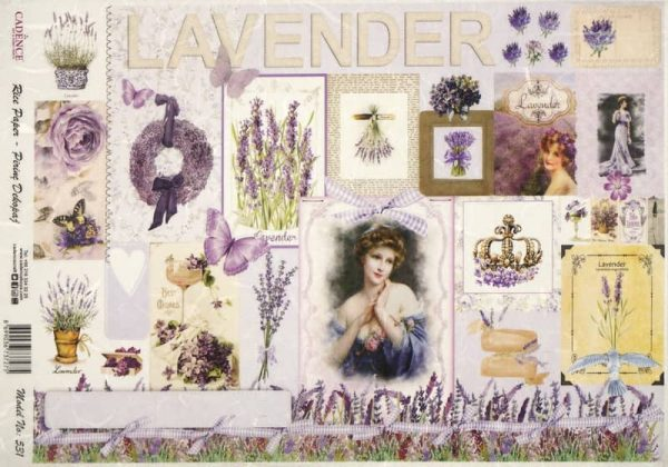 Rice Paper - Romantic Lavenders