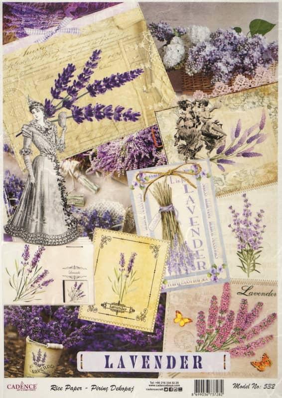 Rice Paper - Romantic Lavenders Mix