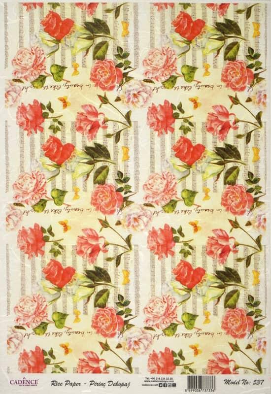 Rice Paper - Rose Carpet