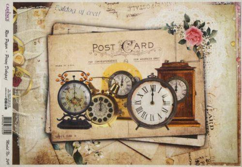 Rice Paper - Old Clocks