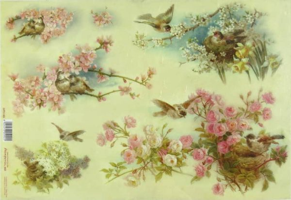 Rice Paper - Peach Tree Flowers