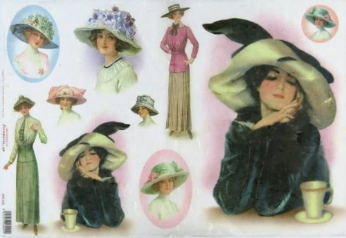 Rice Paper - Women in hat
