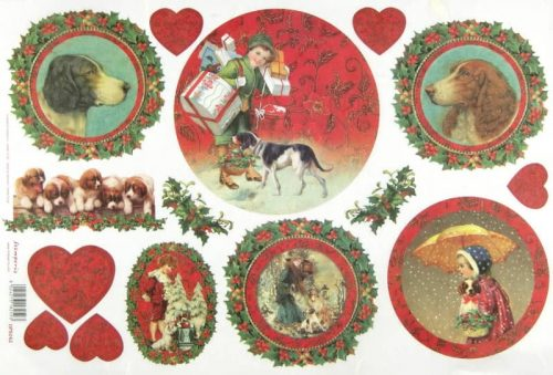 Rice Paper - Christmas Dogs