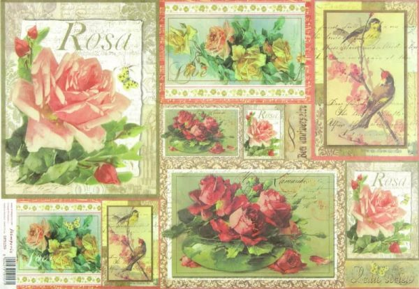 Rice Paper - Roses