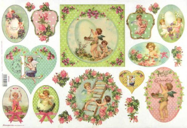 Rice Paper - Vintage Angels