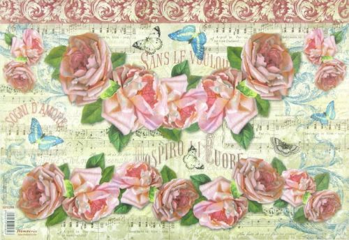 Rice Paper - Score and roses