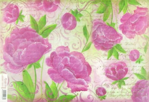 Rice Paper - Pink Flowers
