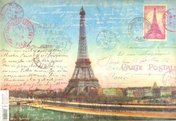 Rice Paper - Travel Tour Eiffel Card