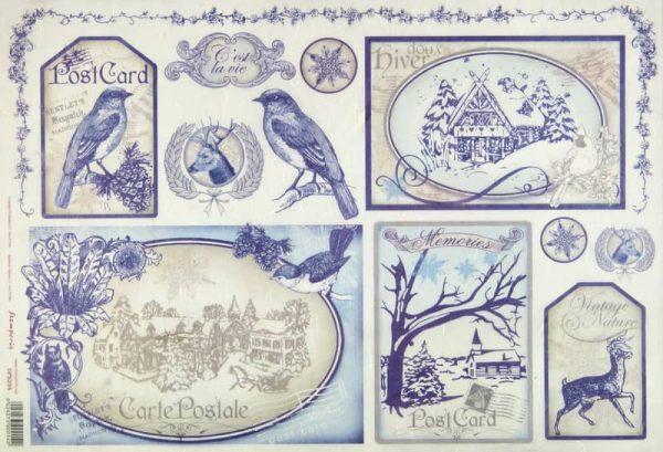 Rice Paper - British Post Card Square