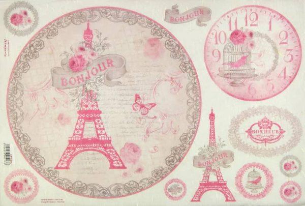 Rice Paper - La Vie En Rose Tour Eiffel