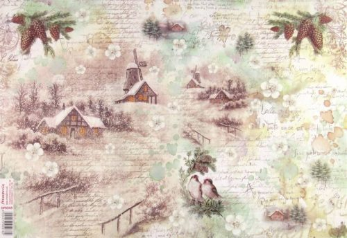 Rice Paper - Winter Landscape