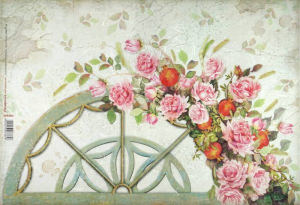 Rice Paper - Arch with Roses