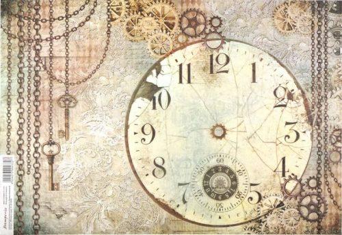 Rice Paper -  Clockwise Clock