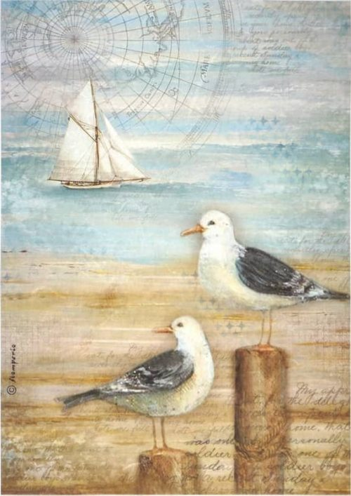 Rice Paper - Sea Land Seagulls
