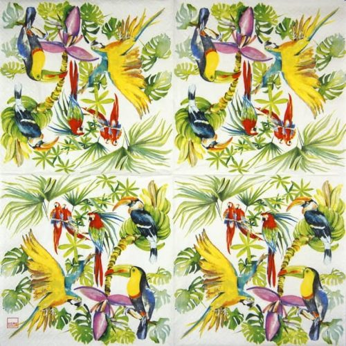 Lunch Napkins (20) - Birds of paradise