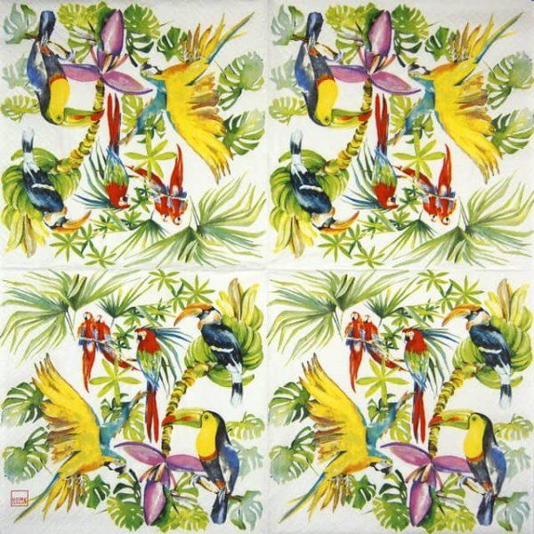 Paper Napkin - Birds of paradise