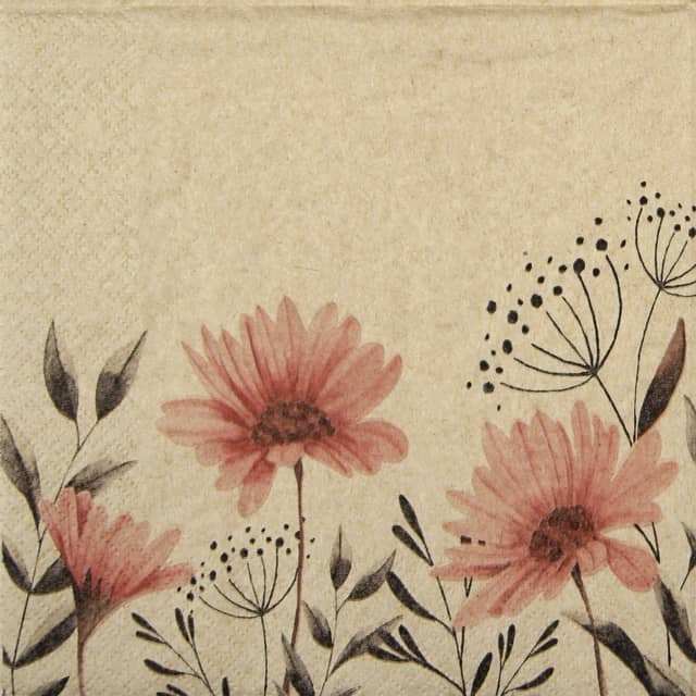 Lunch Napkins (20) - Delicate Flowers