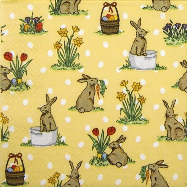 Paper Napkin - Little Rabbits