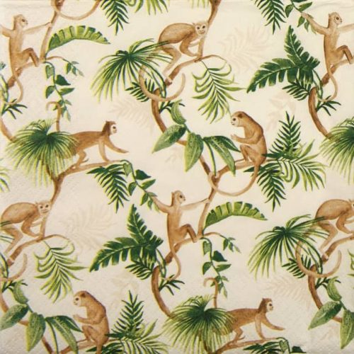 Lunch Napkins (20) - Monkey Family