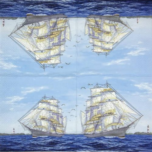 Lunch Napkins (20) - Sailing Ship