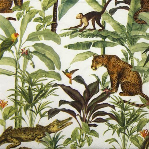 Paper Napkin - Tropical Zoo