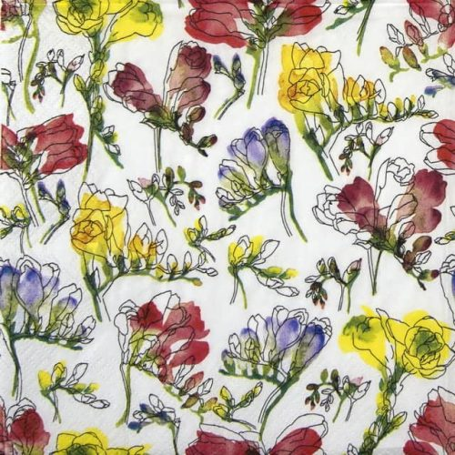 Lunch Napkins (20) - Vibrant Freesia