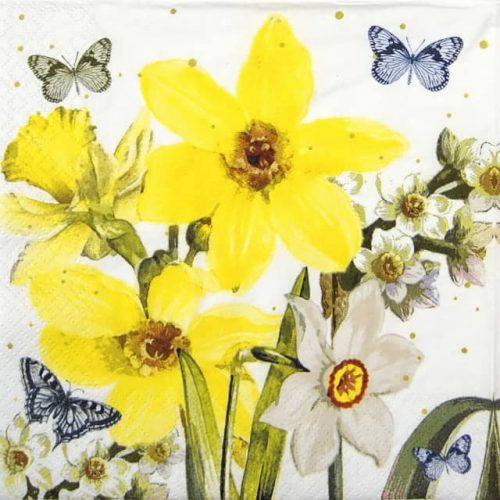Lunch Napkins (20) - Watercolour Narcissus