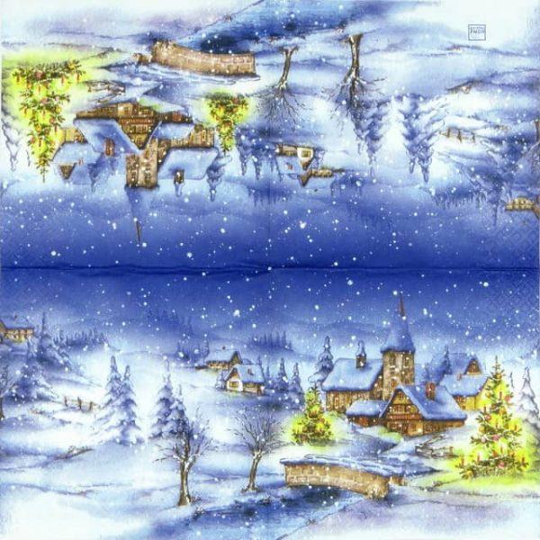 Paper Napkin - Winter Village