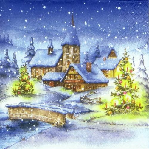 Paper Napkin - Winter Village