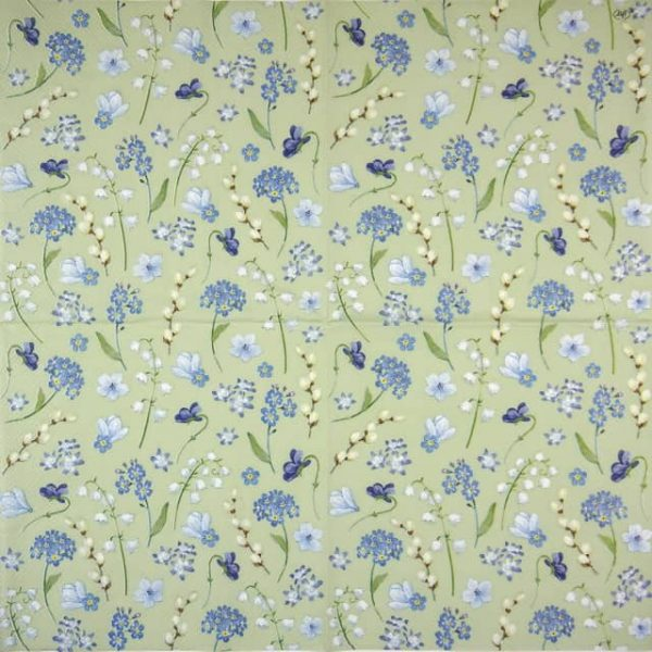Lunch Napkins (20) - Flower in Spring light green