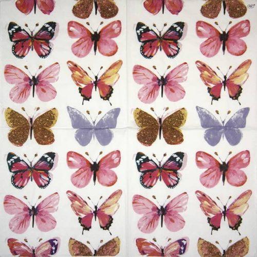 Paper Napkin - Nathalie pink