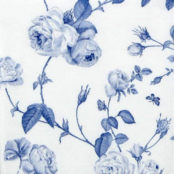Paper Napkin - Rambling Rose Blue