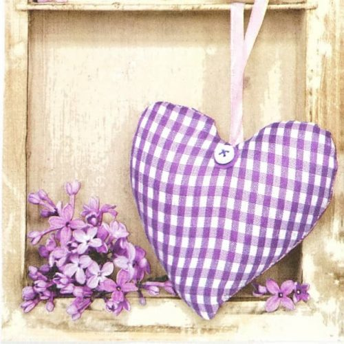 Paper Napkin - Lilac and Heart