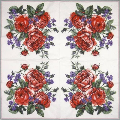 Lunch Napkins (20) - English Painted Roses